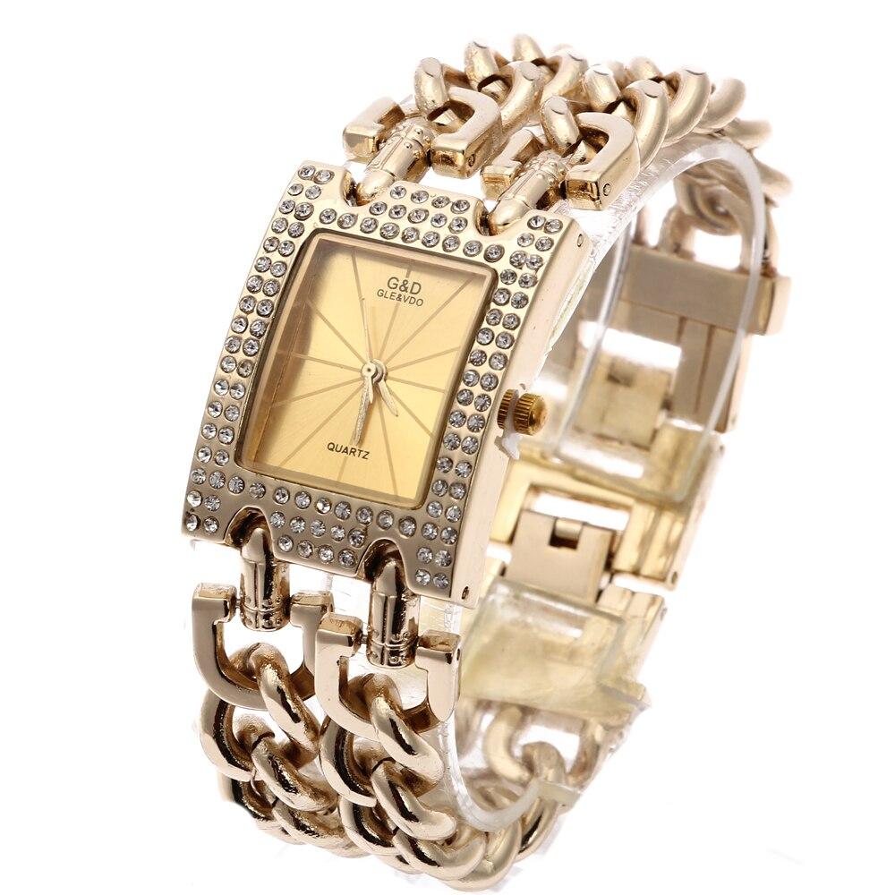 G&D Luxury Brand Women Watch 2019 Gold Quartz Wristwatch Ladies Bracelet Watches Relogio Feminino Reloj Mujer Dropshipping Gift