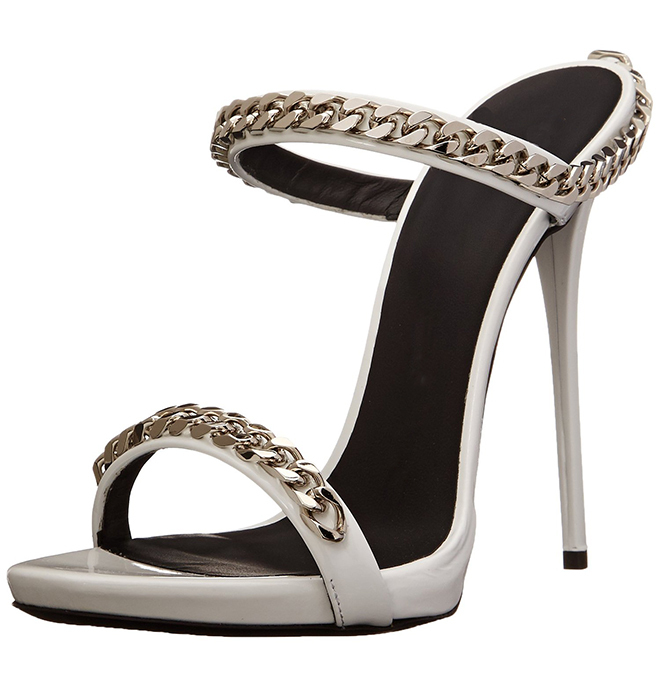 PADEGAO 2017 New Fashion High Heels Women Sandals Sexy Decorated with Metal Chain Wear Convenient Cool Slippers Shoes Women Shoe 2017 han edition of the new fashion women s shoes big yards high heels crystal cool slippers 15cm