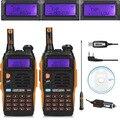 2 PCS Baofeng GT-3TP MarkIII TP 1/4/8 Watt de Alta Potência Dupla faixa de 2 M/70 cm Ham Two Way Radio Walkie Talkie + Programação Cable & CD