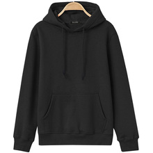 autumn and winter hot sale fleece high quality mens sweatshirt hoodie solid color simple style casual sportswear
