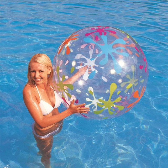 Inflatable Beach Ball Transparent Inflated Toy Balls Children Hot Toys Kids Birthday Party Favors Summer Swimming Pool Game Play