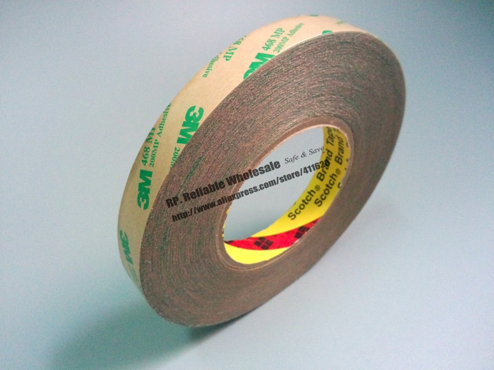 55 meters/roll, 3M 468MP 200MP Double sided adhesive tape Transparent 10m super strong waterproof self adhesive double sided foam tape for car trim scotch