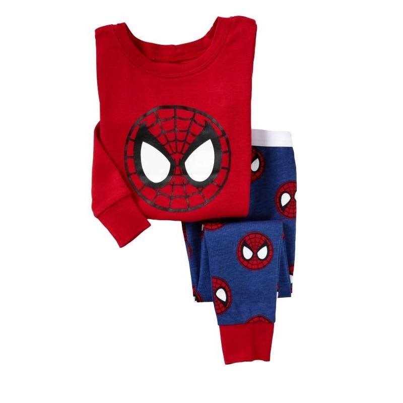 Red Spiderman Baby Boys Sleepwear pijama Boy Pajamas kids pyjama Children clothing set baby home clothes