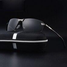 Aluminum Magnesium Sunglasses Polarized Men Coating Mirror Driving Sun Glasses oculos Male Square Eyewear Accessories