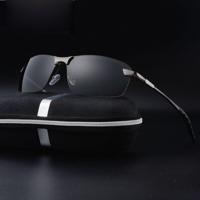 Aluminum Magnesium font b Sunglasses b font Polarized Men Coating Mirror Driving Sun Glasses oculos Male