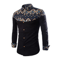 New Men S Long Sleeved Shirts Casual Daily Blouse Design Of Chinese Folk Custom Embroidery Pattern