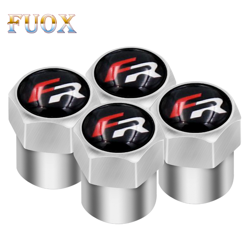 4pcs Car Styling Auto Sticker Caps Case For Seat Leon FR Ibiza Altea Exeo Formula Racing Car-Styling Car Badge Auto Accessories