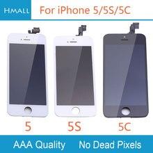Класс AAA для iPhone 5 5S 5C ЖК-дисплей с сенсорным экраном планшета Ассамблеи Замена Белый/черный для iPhone5 5 г 5S 5C ЖК