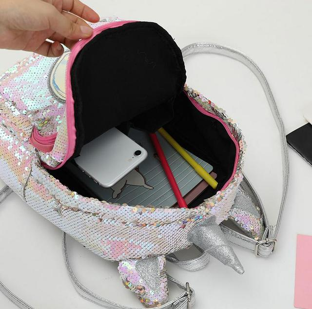 Unicorn Sequins Glitter Backpack