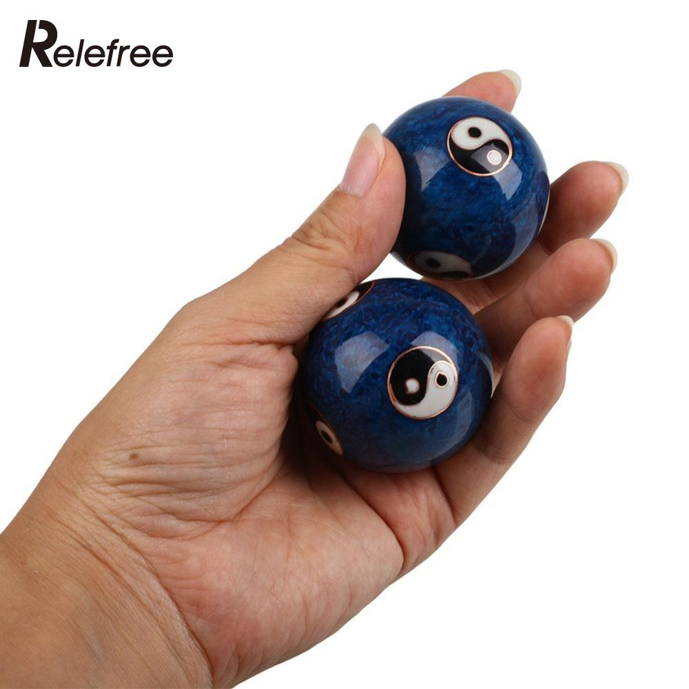 Relefree 1 Pair Fitness Hand Ball Massags
