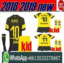 d29ee4ec1 Novo 1819 Top Kit REUS GUNDOGAN Borussia Dortmund jérsei de futebol crianças  YARMOLENKO M. GOTZE