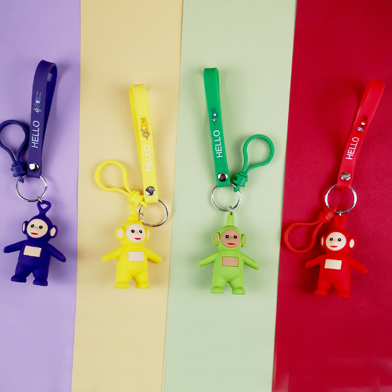 Original Cartoon Girls Or Women Keychain Teletubbies Key Chain For Children Christmas Gift Keychain Action Figure Hot Cartoon