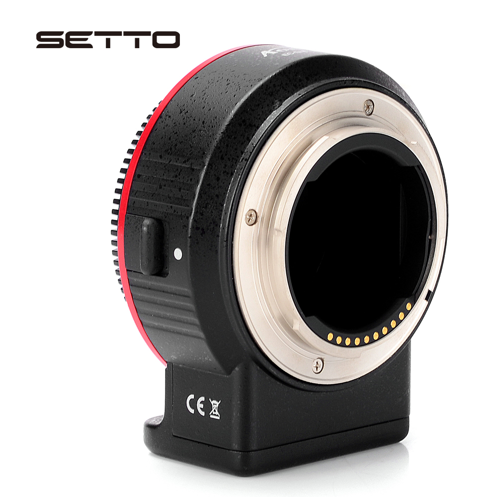 SETTO Auto Focus Lens Mount Adapter pour Nikon F Lens pour Sony E montage A7R2 A7RIII a7r III A7II A6300 A9 A6500 A7R Mark II Caméra