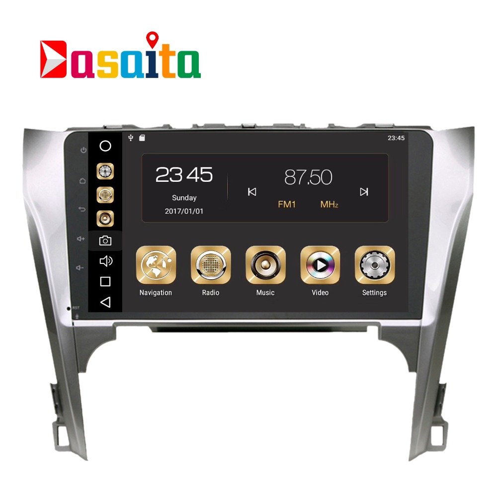 Voiture 2 din android GPS Navi pour Toyota Camry 12-14 autoradio navigation tête unité multimédia 4 Gb + 32 Gb Android 8.0 PX5 Octa-Core