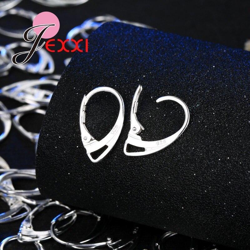 2x STERLING SILVER OVAL HOOP EAR WIRE DANGLE LEVERBACK EARRINGS 24mm #1144