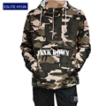 2017 High quality Men's full zipper  hoodie camouflage Army Military hoodies and sweatshirts mens camo
