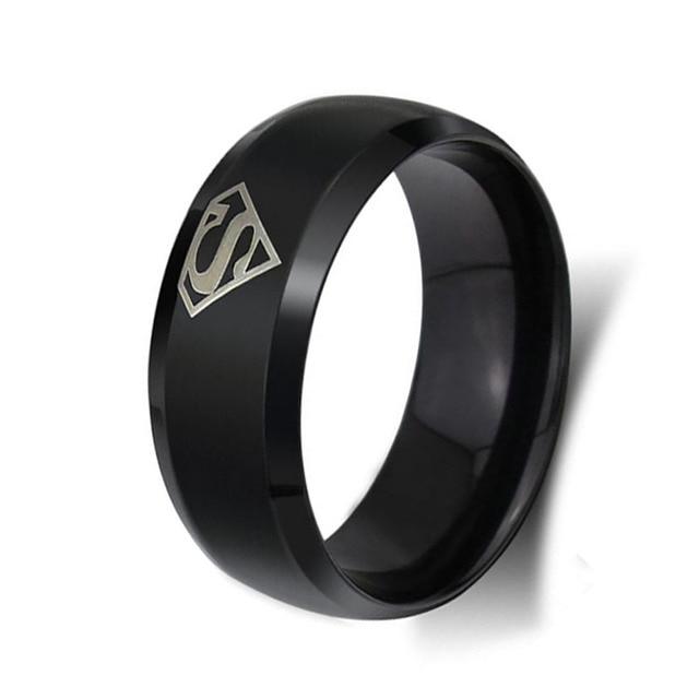 8MM Mens Wedding Band BlackYellowSilver Color Titanium Steel Ring