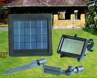 Free Shipping New Outdoor Solar Power Flood Light Decoration For Garden 48LED Light Sensor Green Yellow