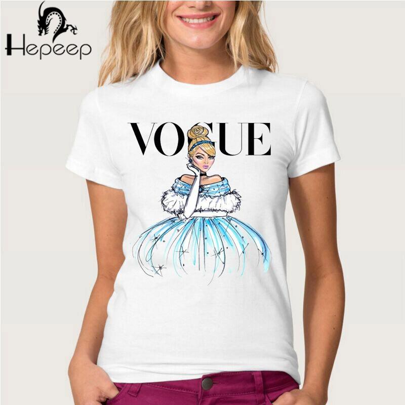 HTB1CSbRJVXXXXchXVXXq6xXFXXXg - Summer fashion women t-shirt VOGUE punk princess print T Shirt