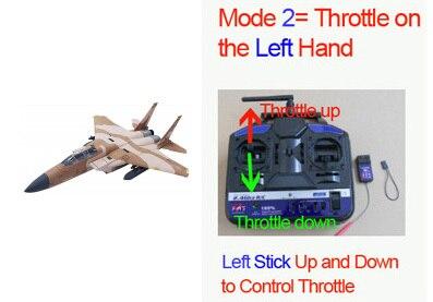 Без батареи, радиоуправляемый самолет модель F15 пустынный камуфляж-готов к полету - Цвет: Desert Camo Mode 2