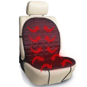 Image 2 - חורף 12V רכב מחומם Pad רכב מחומם מושבי כרית חימום חשמלי כרית רכב מושב מכסה רכב כרית