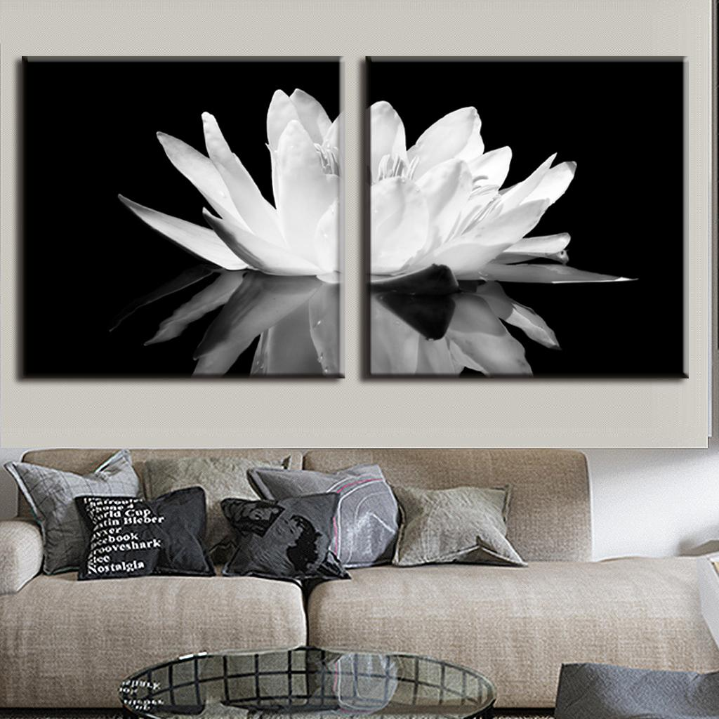 Black Canvas Painting Black And White Photography