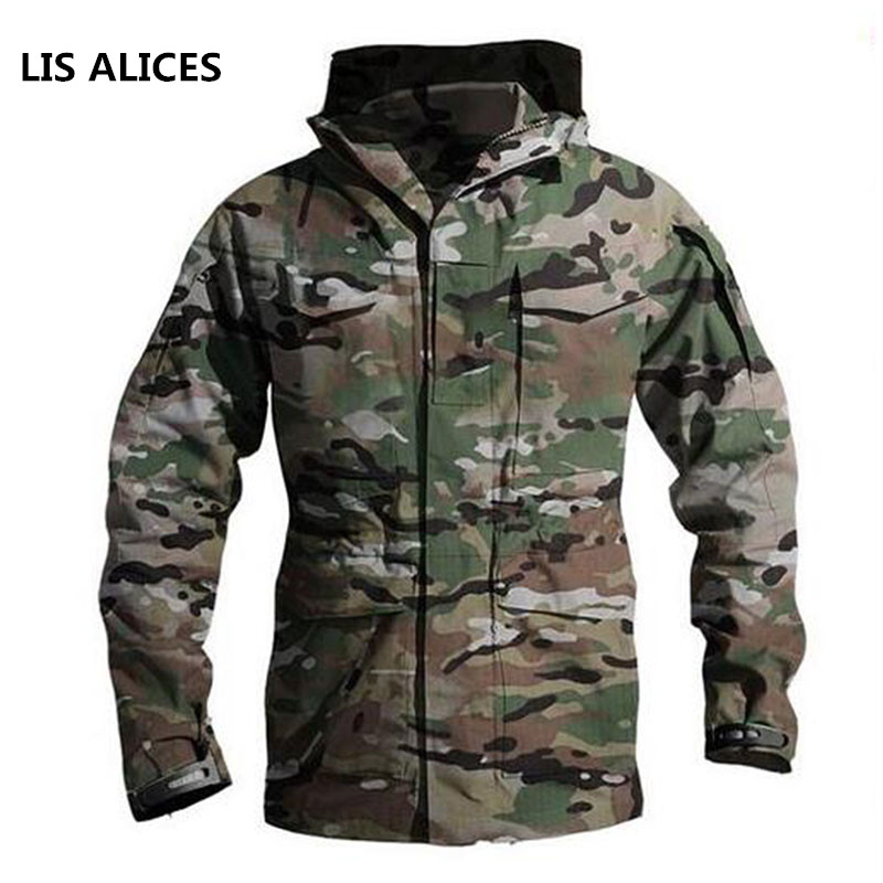 7517ff6143594 Upgraded M65 Tactical Trench Coat Army Clothes Casual Tactical Windbreaker  Flight Pilot Coat Male Hoodie Military