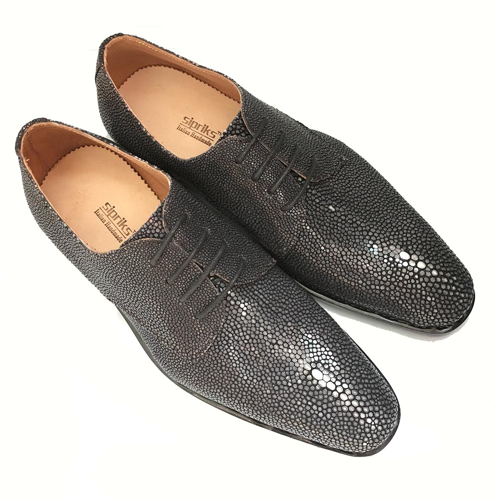 Men's Shoes Sipriks Real Stingray Leather Shoes Men Goodyear Welted Shoes Thailand Imported Dress Oxfords Mens Formal Tuxedo Shoes Boss Flat