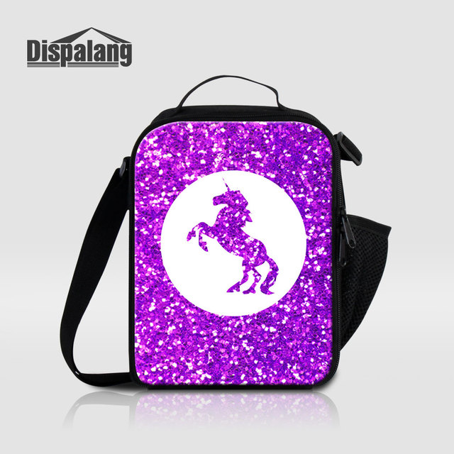 Dispalang Unicorn Lunch Bag For Children Cartoon Printed Thermal Insulated Cooler Bags Women Portable Picnic Food