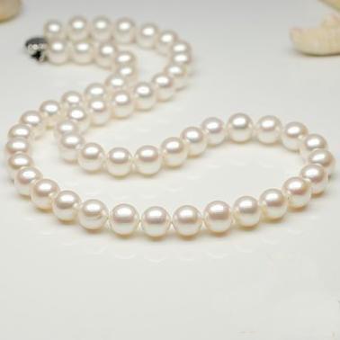 Nouveau Arriver de superbes bijoux en perles, grand collier de perles d'eau douce rondes de haute qualité AAA 9-10mm