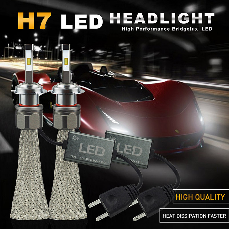 auxito 2x led h7 headlights bulb 48w 8000lm headlamp for. Black Bedroom Furniture Sets. Home Design Ideas