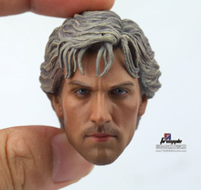 1/6 Scale Aaron Johnson Quicksilver Head Carved Plastic Silver Hair Model Head Carving fit 12 Male body Model Toy 1 6 scale kobe head sculpt basketball star head carving model toys sotoys so 13
