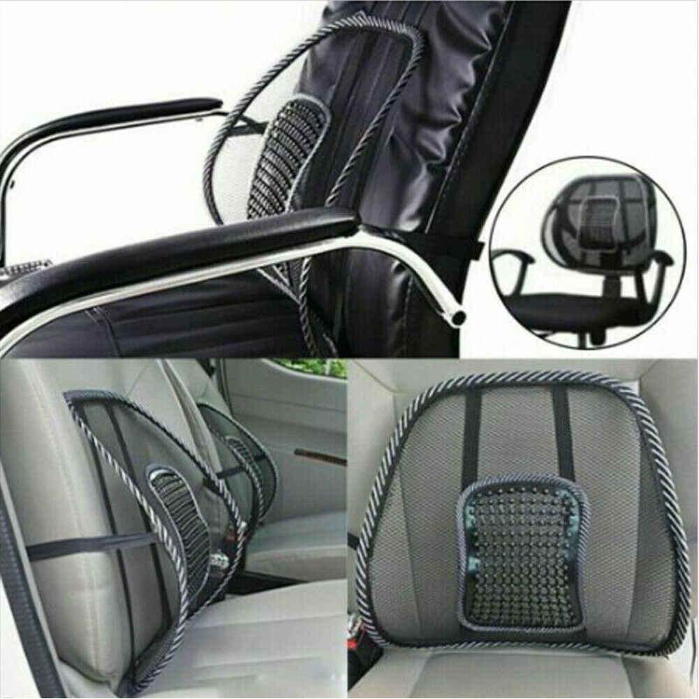 Cojín Lumbar de corrección de postura de la columna vertebral con masaje para silla de oficina y asiento de coche
