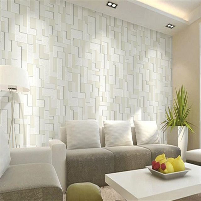 beibehang Modern Wallpaper Stereo Living Room TV Wall Non wovensr ...