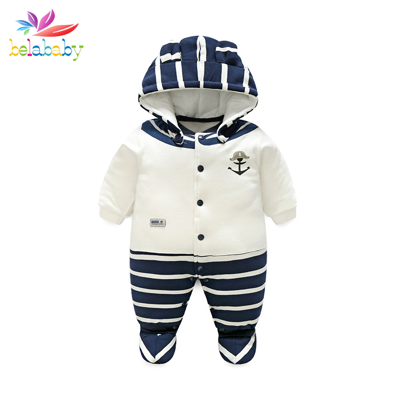 Belababy Baby Rompers Winter Cute Cartoon Animal Pattern Boys Girls Long Jumpsuit Comfortable Cotton Crawling Coverall Clothing baby clothing infant baby kid cotton cartoon long sleeve winter rompers boys girls animal coverall jumpsuits baby wear clothes