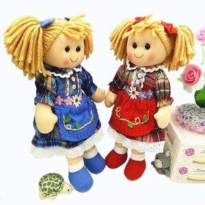 Wysokiej jakości 13 cal miękkie dziecko szmaciana lalka zabawki dla dziewczynek nadziewane dzieci dziecko urodzone lalka z tkaniny urodziny lalki prezent