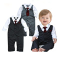 Gentleman Baby Boy Romper Necktie Newborn Baby Clothes Babies New Year Costumer Infant Spring Wear 817