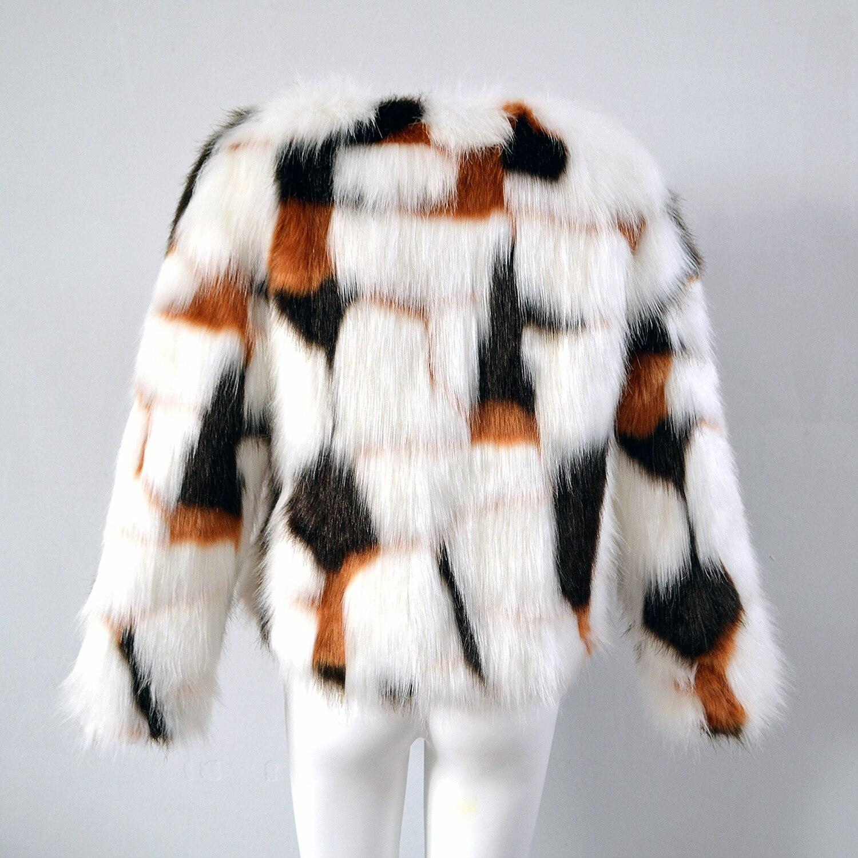 Invierno de lujo pelo mezclado golpeó costuras de Color bombardero ...