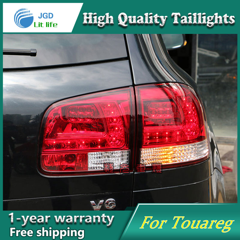 Car Styling Tail Lamp case for Volkswagen VW Touareg 2003-2010 Tail Lights LED Tail Light Rear Lamp LED taillights tail lights for vw volkswagen polo mk5 6r hatchback 2010 2015 car rear lights covers led drl turn signals brake reverse tail decoration