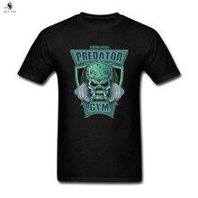Men's Predator DIY Cotton Tshirts Short Sleeve Black T Shirt For Man's Top