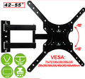 "42-55"" TV Mount Bracket Retractable Full Motion 3Arms LCD Wall Mount VESA 400mm"
