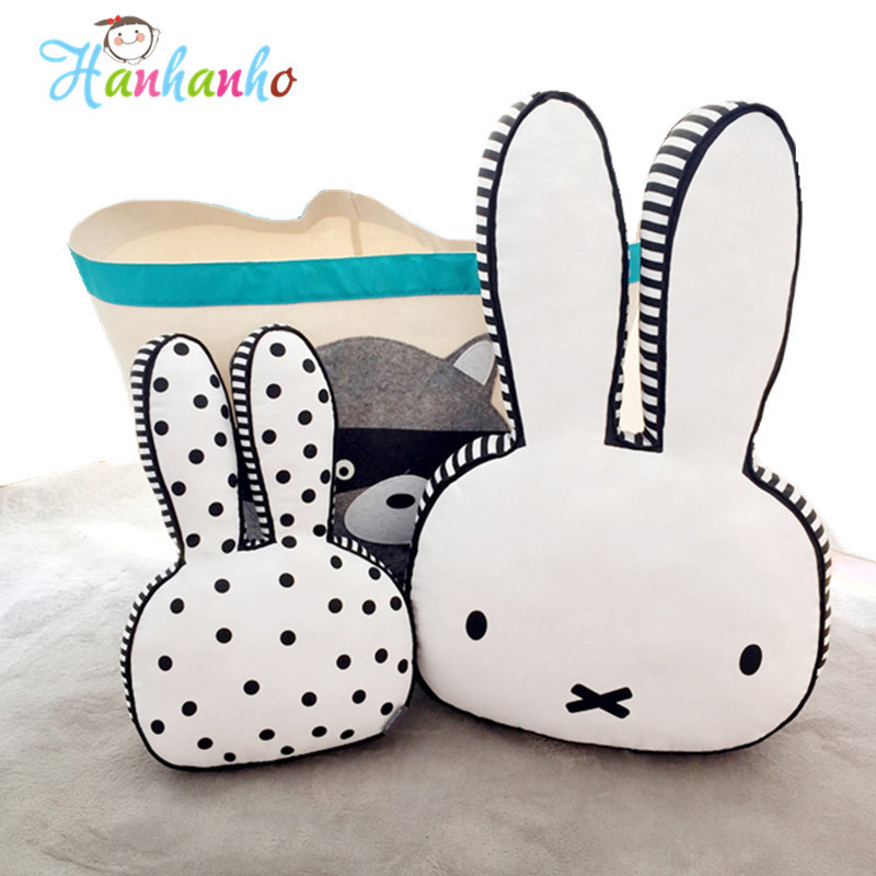 Novelty Rabbit Plush Toy Cushion Kawaii Animal Bunny Baby Pillow Bed Room Decor Kids Soft Doll 0 baby toy soft animals bunny plush doll baby crib bed hanging animal toy teether multifunction doll kids toy wj416