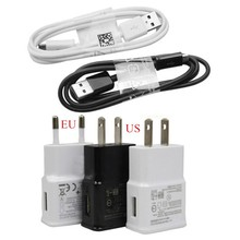 High quality good 2A EU US Plug Wall Charger Micro USB Charger Cable For Samsung Galaxy