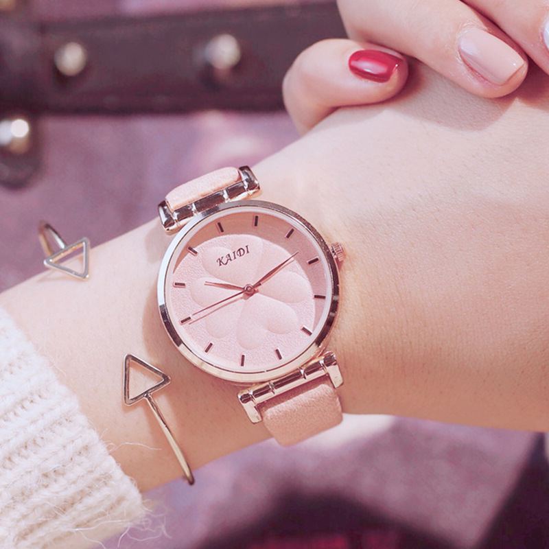 Beauty flower dial design women watches luxury brand womens fashion casual dress watch Simple wild ladies wristwatches gifts