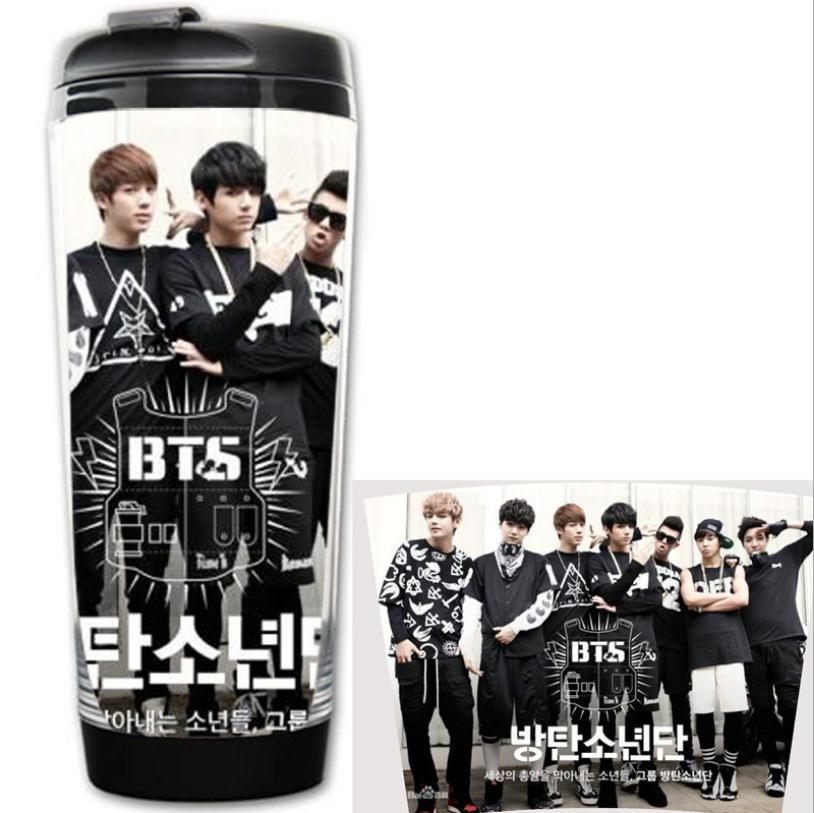 Bangtan мальчики БЦ кружки двухслойная Anti-ожоги k-поп-бц drinkware кружка для кофе в Корейском стиле Пуленепробиваемый Бойскаутов HBA чашки Бат Copo