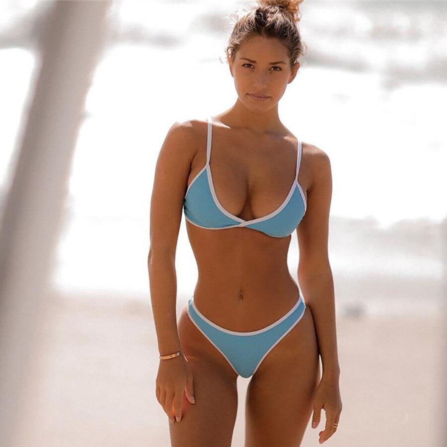 6d4641d0ab 2018 New Candy Color Sexy Micro Bikini Set Women Thong Swimwear Brazilian  Biquini Micro Mini Swimsuit Plus Size Bathing Suits XL-in Bikinis Set from  Sports ...