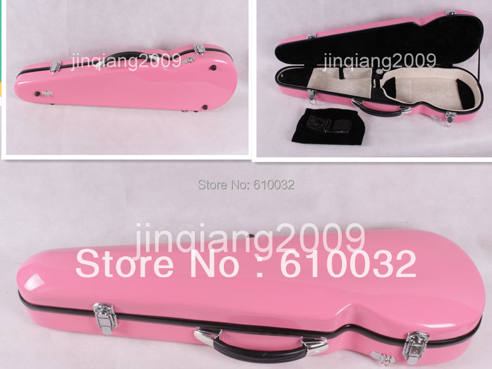4/4 Violin Case Fiber Glass Strong Light Inside is Soft velvet material3-6 pink  if you like other calor can tell me  цены