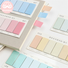 Mr Paper 120pcs/lot 6 Colors Gradual Change Rectangle Memo Pad Sticky Notes Notepad Diary Creative Self-Stick Note Memo Pads