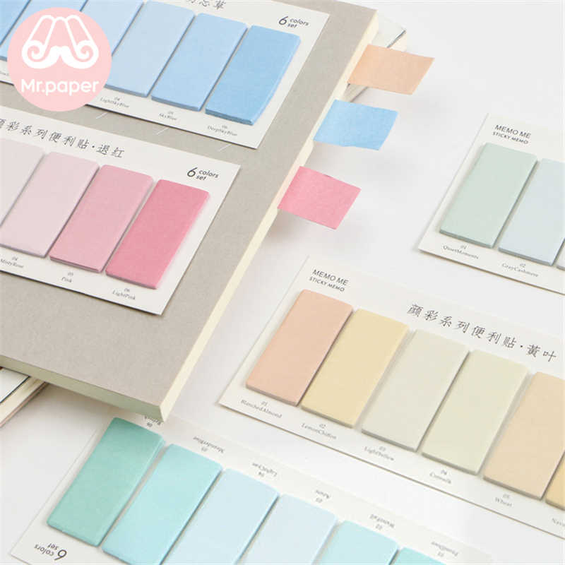 1 Pack Color Self-Stick Note Study Paper Memo Pad Paste Office//School Stationery