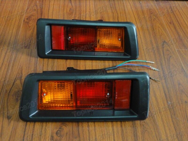 1Pair Rear Tail Bumper Fog Lights Lamps For Toyota Landcruiser Prado FJ90 1997 1999